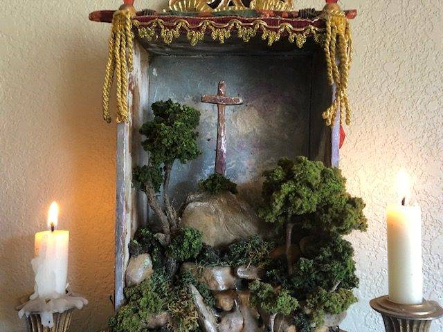 MOUNTAIN SHRINE, Unique, One of a Kind, Faith-based Wall Art