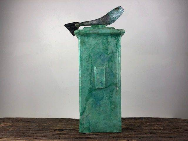 GREEN RIVER, for the Avid Fisherman, a Full Size, One of a Kind Cremation Art Urn for Human or Pet Ashes