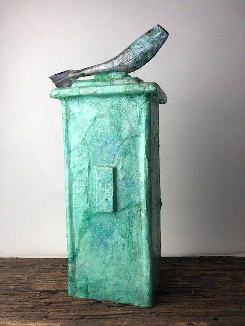 GREEN RIVER, a Fisherman's Full Size, One of a Kind Cremation Art Urn for Human or Pet Ashes