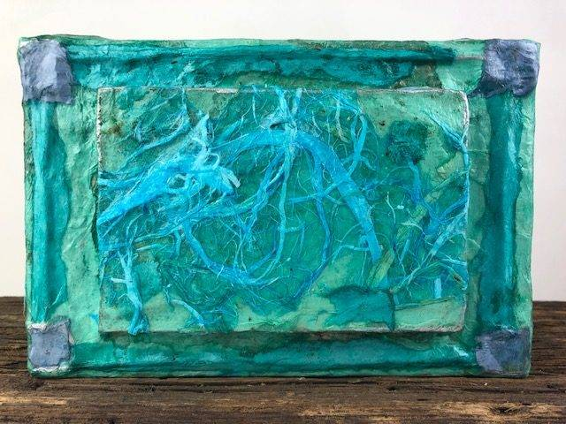 BLUE-2, an Unique, Artsy, One of a Kind, Full Size Cremation Art Urn for Human or Pet Ashes