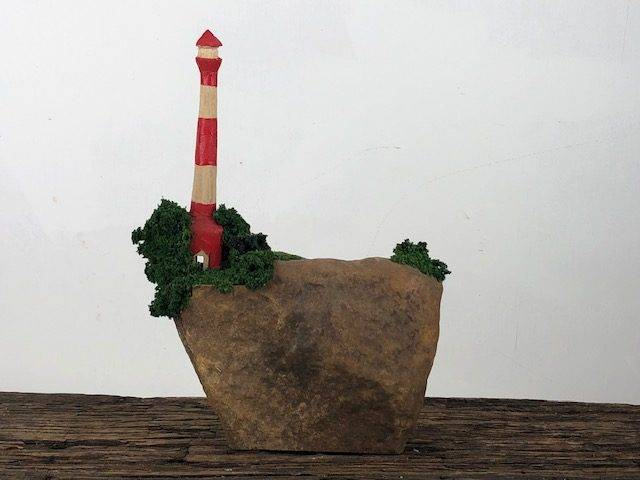 LIGHTHOUSE, a One of a Kind, Unique, Stone Sculpture Art Piece