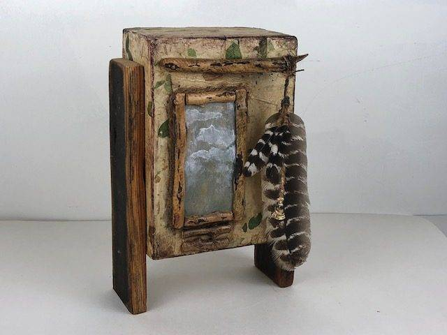IN THE WOODS, a Natural, Creatively Unique, Mid-Size Cremation Art Urn for Human or Pet Ashes