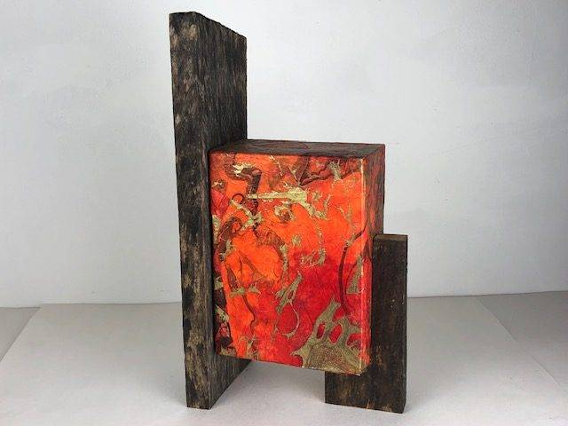 FALL LEAVES, a Beautiful, Unique Full Size Cremation Art Urn for Human or Pet Ashes