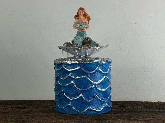 MERMAID-2, a Whimsical, Creatively Unique, Small or Sharing Urn for Human or Pet Ashes