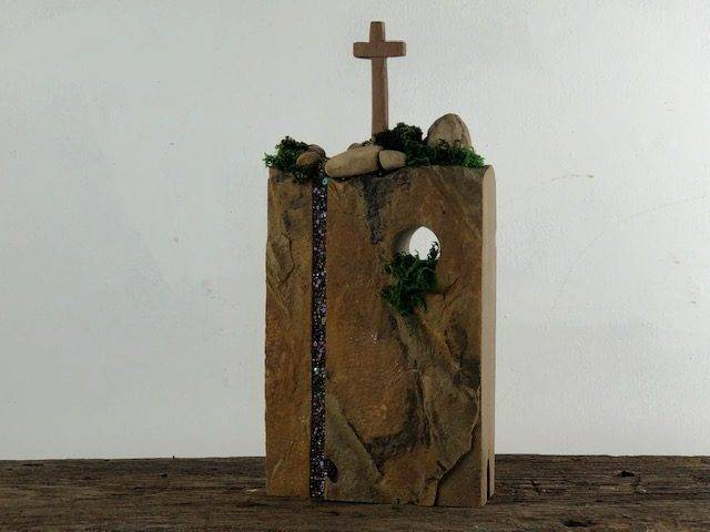 CORNERSTONE, a Beautiful, Christian, Hand Carved Stone Keepsake or Sharing Urn for Human or Pet Ashes