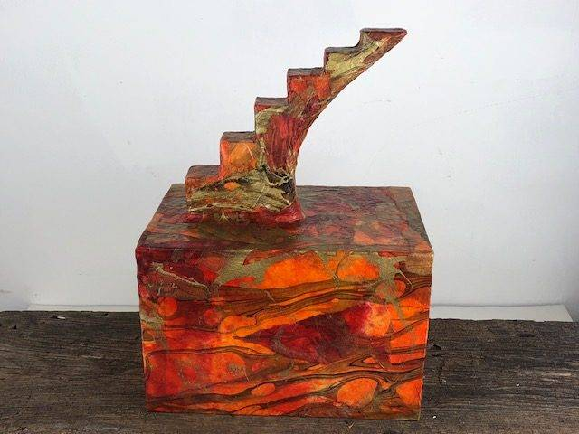 GOLDEN WALK, a Stairway To Heaven Creatively Unique, Full Size Cremation Urn for Human or Pet Ashes