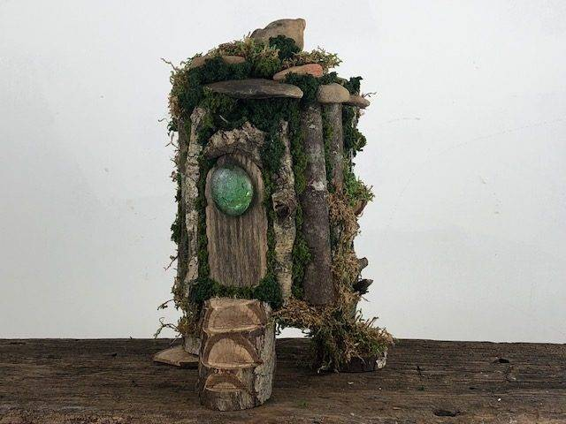 MOSS CABIN, a Rustic, One of a Kind, Unique, Full Size Cremation Art Urn for Human or Pet Ashes