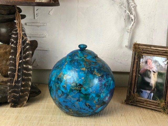 THE DEEP, a One of a Kind, Full Size Ceramic Cremation Art Urn for Human or Pet Ashes