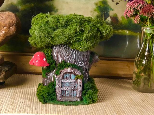 PIXIE HOLLOW, a Whimsical, Ceramic, Mid-Size or Sharing Cremation Art Urn for Human or Pet Ashes
