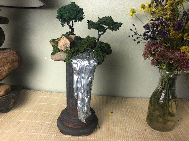 HOMESTEAD, a Unique, One of a Kind, Ceramic Cremation Art Urn for Human or Pet Ashes