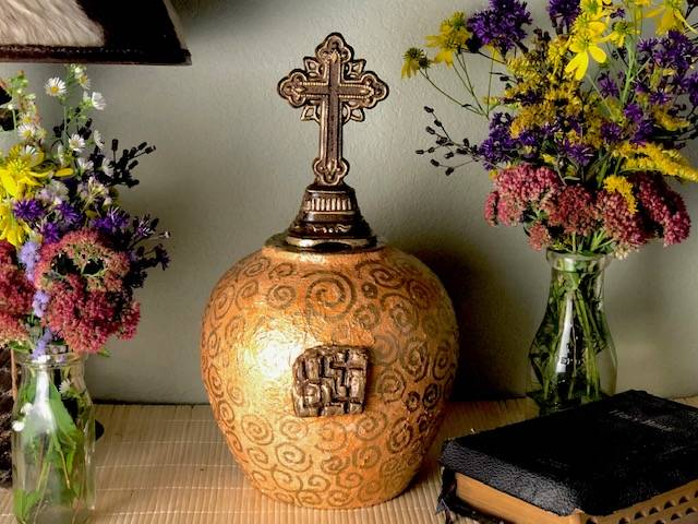 HOLINESS, a Beautiful, Christian, Full Size Ceramic Cremation Art Urn for Human or Pet Ashes
