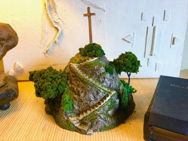 HEAVEN'S REST, a Stairway to Heaven Unique, Faith-based Handmade Cremation Urn for Human or Pet Ashes