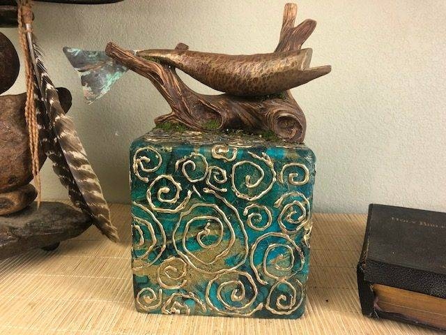 ANGLER'S PRIZE, a Unique, Full-Size, One-of-a-Kind Cremation Art Urn for Human or Pet Ashes