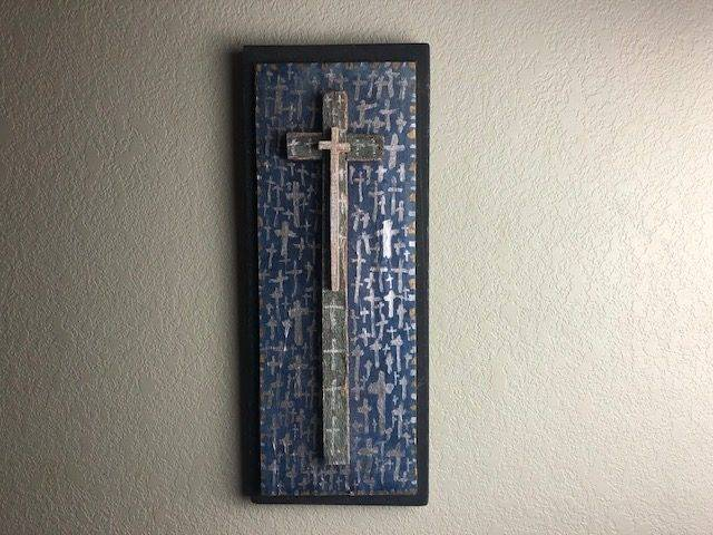 BLUE CROSSES, Unique, One-of-a-Kind, Way Cool, Christian Art Wall Decor