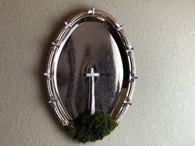 CROSS and DOVES, UNIQUE, ONE OF A KIND, CHRISTIAN WALL ART