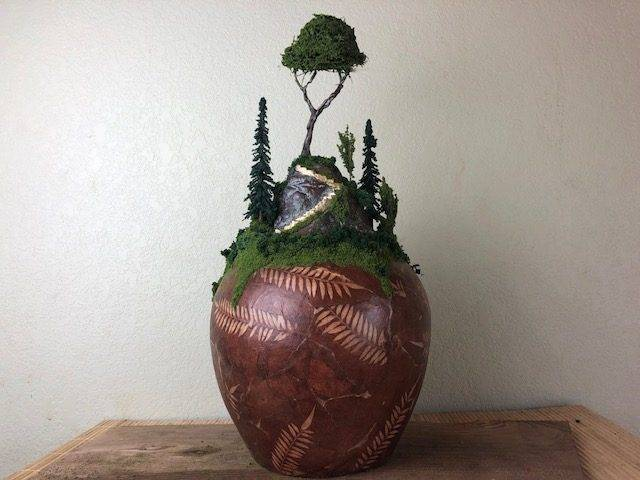 FERN HEIGHTS, a Unique, Faith-Based, Full-Size, Ceramic Cremation Urn for Human or Pet Ashes