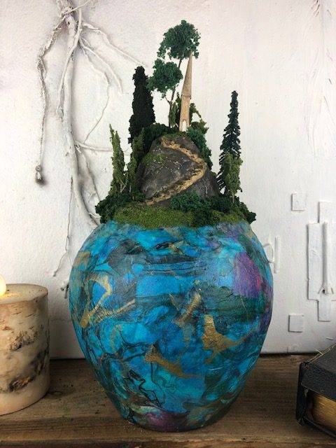 THE PATH, a Unique, Full-Size, Ceramic Cremation  Urn for Human or Pet Ashes