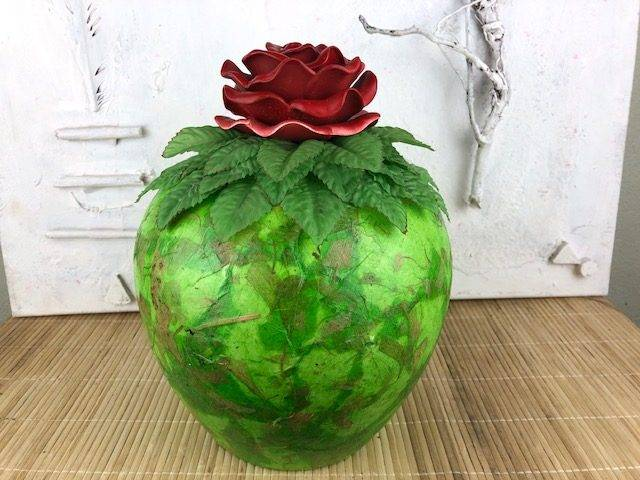 AMERICAN BEAUTY, a Lovely, Unique, Full-Size Ceramic Cremation Urn for Human or Pet Ashes