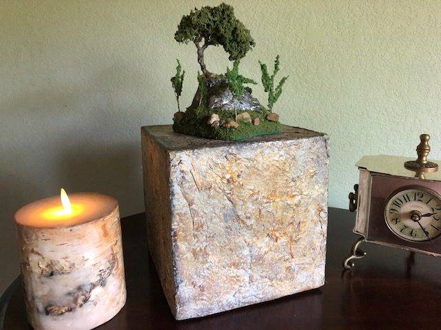 HEAVENLY GARDEN, a Unique, Faith-Based Ceramic and Wood Cremation Urn for Human and Pet Ashes