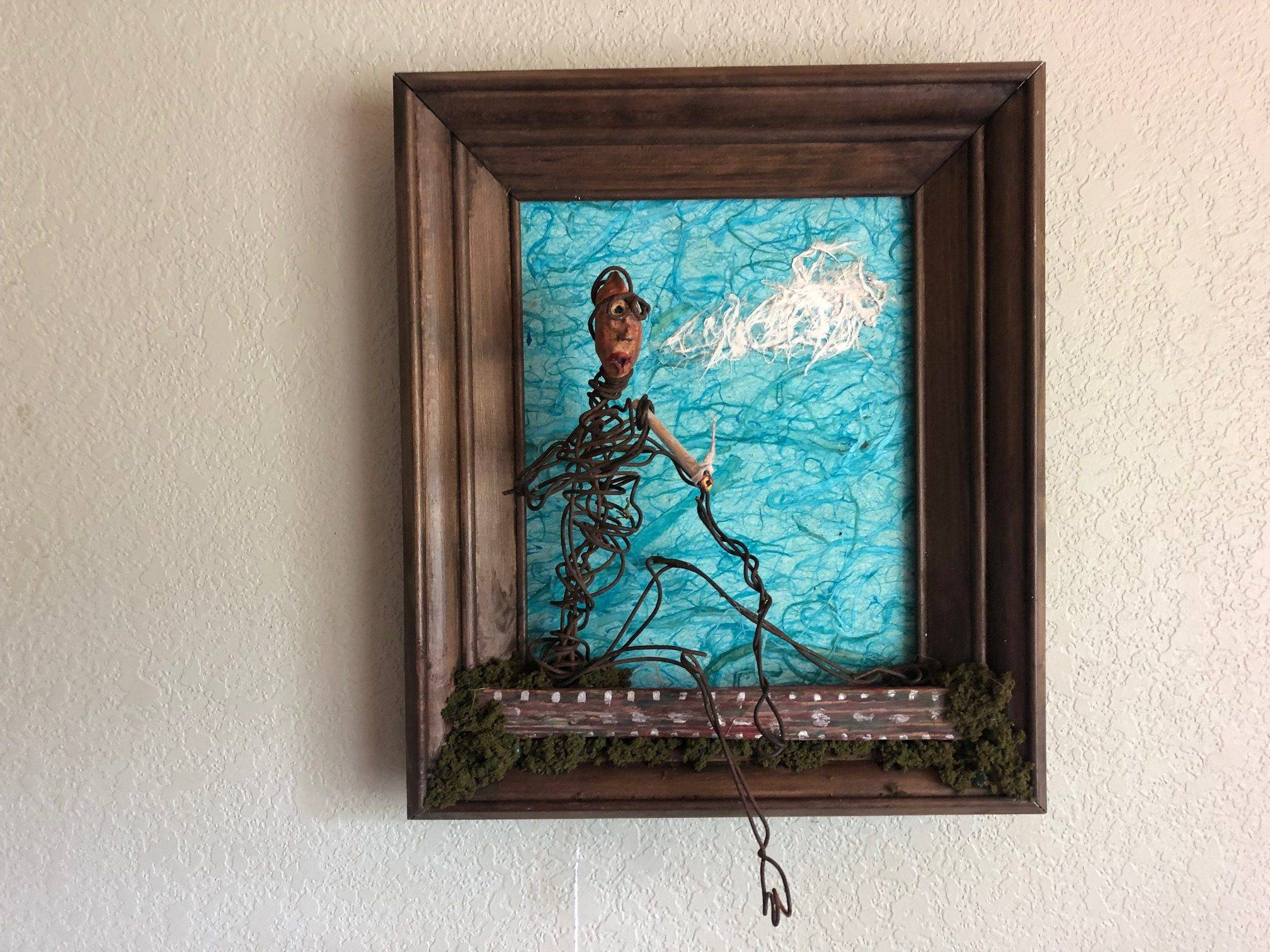 THE SIMPLE JOYS, a Unique, Whimsical 3D Wall Art for the Fishing Soul